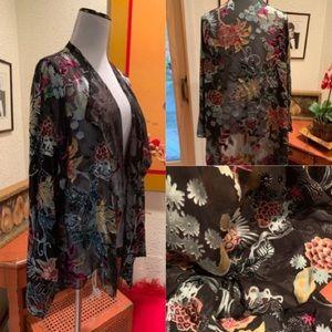Luxury Brand Silk Velvet Kimono
